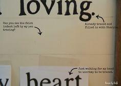 DIY Song Lyric Sign via House by Hoff