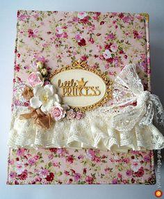"""Фотоальбом для девочки """"маленькая принцесса"""" - скрапбукинг, альбомы, блокноты и тетради. МегаГрад - город мастеров"""