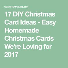 17 DIY Christmas Card Ideas - Easy Homemade Christmas Cards We're Loving for 2017 Homemade Christmas Cards, Funny Christmas Cards, Simple Christmas, Christmas Humor, Christmas Diy, Creative Skills, Card Ideas, Creativity, Diy Crafts