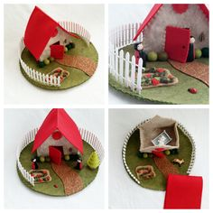 Strawberry Cottage Playscape Play Mat felt pretend open-ended storytelling…