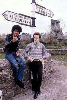 Phil Lynott (Skid Row / Thin Lizzy -  b.1949-d.1986) & Midge Ure (Visage / Ultravox)