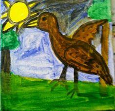 luonto piirustus kuvia: Pienikuivi pikkukuivi luonnossa leikki ilo sena aurinko paistaa taivaalla
