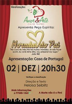 """Apresentação Teatral """"Moradas do Pai"""" em Teresópolis/RJ - http://www.agendaespiritabrasil.com.br/2016/12/02/apresentacao-teatral-moradas-do-pai-em-teresopolisrj/"""