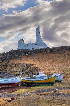 Stykkishólmur Church, Iceland.