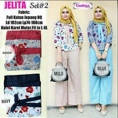 JELITA SET#2  Matt :  Full Katun Jepang HQ  Detail:  Kulot Karet Muter  Fit To L-XL  Good Quality  Harga : 150.000    #khimarmurah #maximurah #gamis #gamismurah #syari #muslim #muslimahfashion #jilbabgrosir #jilbab #ootd #hijab #trend #like4like #l #hijabmurah #jeans #kulot #kaftan #setelan