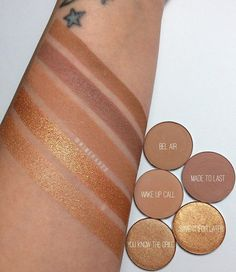 Light nudes and gold Pressed Powder shadows by @colourpopcosmetics launching tomorrow at 10am PST