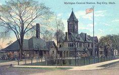 Michigan Central Depot 1915 - Bay City, MI Vintage Clip, Vintage Photos, Bay City Michigan, Railroad History, Madonna, Clip Art, Meet, Journal, Spaces