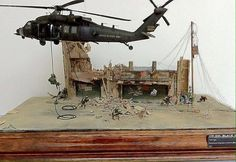 "Diorama ""Black Hawk UH-60 L, Iraq 2005, IED's"" by Mauricio Tato Mena"