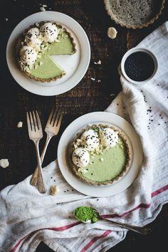 Matcha Panna Cotta & Black Sesame Tartlets | Butterlust