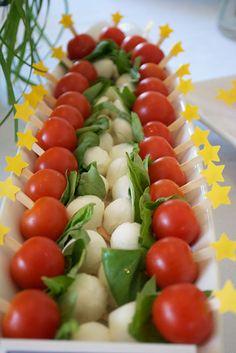 star food picks with petit caprese skewers -- photo stylist - Erica McNeish