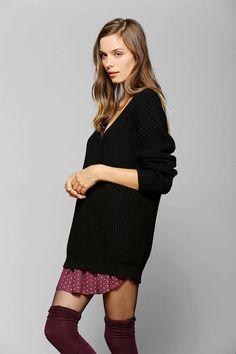 Cooperative V-Neck Tunic Sweater