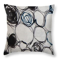 8075 Throw Pillow featuring the digital art 8075 by Aileen Griffin