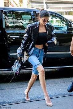 Kendall Jenner shows off knockout legs on the Bowery | Daily Mail Online