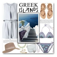 """""""Greek Islands"""" by katrinaalice ❤ liked on Polyvore featuring Miss Selfridge, Victoria's Secret, Topshop, Valia Gabriel, Kate Spade and Forever 21"""