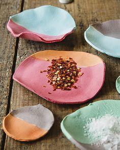DIY #tutorial Paper Clay Spice Bowls