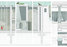 Maria Guerreiro Morais · Tagus Baths: Spaces of Water and Light in Aterro da Boavista Architecture Collage, Architecture Board, Architecture Graphics, Architecture Drawings, Technology Design, Digital Technology, Metropolis Magazine, Detailed Drawings, House