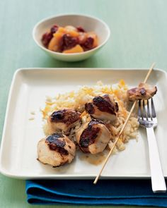 Tandoori Chicken Kebabs - It's easy to re-create this beloved Indian restaurant dish at home: Marinate boneless, skinless chicken thighs in plain yogurt, lime juice, garlic, and jalapeno chiles before grilling over high heat. Serve with basmati rice and naan bread if you like.