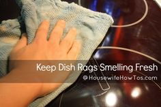 Keep Your Dish Rags From Smelling - Housewife How-To's®. This looks like a great website.