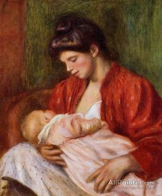Pierre Auguste Renoir Young Mother oil painting reproductions for sale