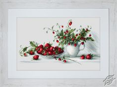 Strawberries - Cross Stitch Kits by Luca-S - B2277