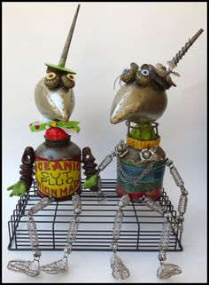 Heckle & Jeckle by Lauretta Lowell, www.whimsicalcuriosities.com