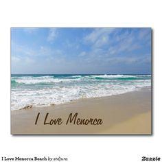 Shop I Love Menorca Beach Postcard created by stdjura. Menorca Beaches, Postcard Size, Falling In Love, Jewel, Island, Vacation, My Love, Create, Water