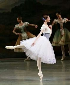 Svetlana Zakharova as Giselle - she is just amazing. Her arabesque here just looks like a natural stance.
