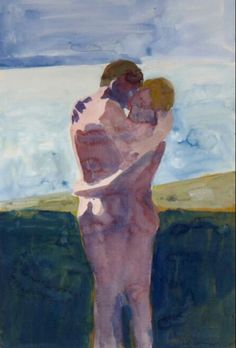 """kundst: """"Paul Wonner (US Embracing Couple Wonner was associated with the Bay Area Figurative Movement """" Sketch Inspiration, Painting Inspiration, Art And Illustration, Figure Painting, Figure Drawing, Bay Area Figurative Movement, Figurative Kunst, Kunst Online, Gay Art"""