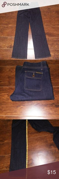 Micheal kors wide leg denim Trousers jeans Michael Kors wide leg denim jeans Size:2 Condition: used light wear but overall in good condition comes from a smoke free home Michael Kors Jeans Flare & Wide Leg