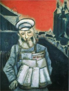 Newspaper Seller - Marc Chagall