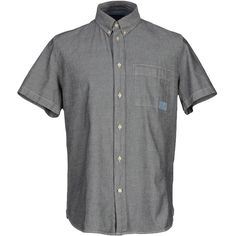 Paul Smith Jeans Shirt ($115) ❤ liked on Polyvore featuring men's fashion, men's clothing, men's shirts, men's casual shirts, grey, mens button down collar shirts, mens short sleeve shirts, mens casual short-sleeve button-down shirts, mens short sleeve casual shirts and mens cotton shirts