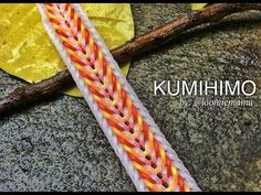 KUMIHIMO Hook Only bracelet tutorial rainbow loom bands