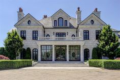 Equestrian Estate Discovery Manor: a luxury home for sale in New York - Property ID: Dream House Exterior, Dream House Plans, Dream Mansion, White Mansion, Suburban House, Luxury Homes Dream Houses, Modern Mansion, Dream Home Design, Elegant Homes