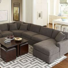 Inspiring living room layouts ideas with sectional (38)