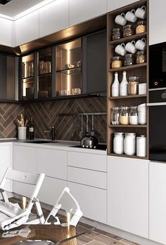 modern luxury kitchen design ideas that will inspire you 5 Kitchen Room Design, Kitchen Dinning, Kitchen Sets, Modern Kitchen Design, Home Decor Kitchen, Interior Design Kitchen, Kitchen Furniture, New Kitchen, Home Kitchens