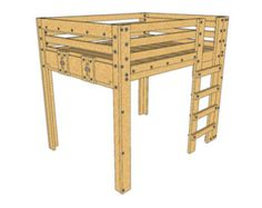 these queen loft bed plans provide a solid foundation for an elevated queen sized bed frame suitable for adults the design is simple and sturdy with the o