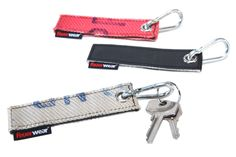 Keychain Nick from recycled fire hose   http://www.feuerwear.de / eco keychains