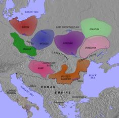 Seventh-century Slavic cultures (the Prague-Penkov-Kolochin complex). The Prague and Mogilla cultures reflect the separation of the early Western Slavs (the Sukow-Dziedzice group in the northwest may be the earliest Slavic expansion to the Baltic Sea); the Kolochin culture represents the early East Slavs; the Penkovka culture and its south-westward extension, the Ipoteşti-Cândeşti culture, demonstrate early Slavic expansion into the Balkans (which would later result in the separation of…