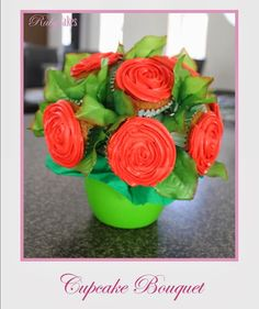 Cupcake Bouquet Bouquet, Cupcakes, Rose, Flowers, Plants, Pink, Bouquets, Cupcake, Roses