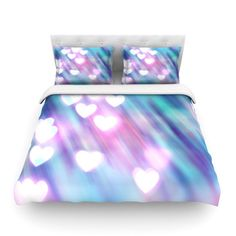 """Beth Engel """"Your Love is Sweet Like Candy"""" Heart Cotton Duvet Cover"""