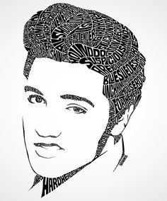Elvis Typography Portrait