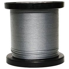 X Galvanized Cable diameter galvanized cable. 250 ft reel constructed of 7 strands and 19 wires per strand. Wires are hot dip galvanized for greater corrosion protection. construction makes this cable very flexibl Cable Reel, Cable Wire, Stainless Steel Cable, Fishing Tips, Strands, Cali, Commercial, Backyard, Group