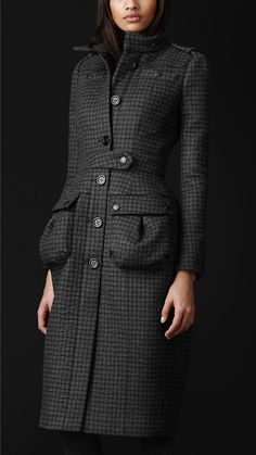 Check Tailored Top Coat ~ Burberry