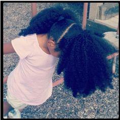 Natural hair baby