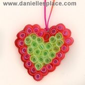 Drinking Straw Perler Beads Heart Pendant/crafts for kids
