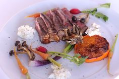 Steak with ricotta, ClemenGold & vegetables