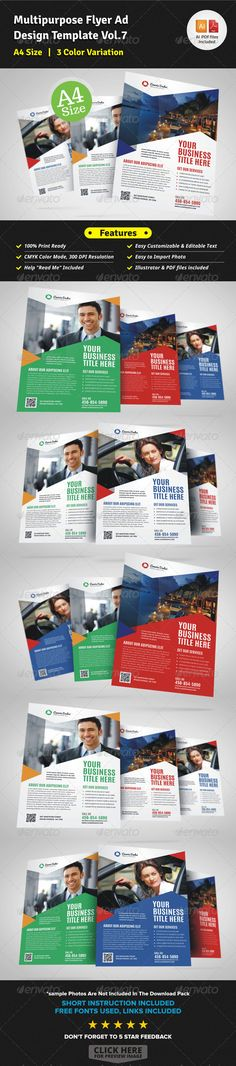 Multipurpose Business Flyer Template Vol.7 — Vector EPS #women #flyer template • Available here → https://graphicriver.net/item/multipurpose-business-flyer-template-vol7/7127081?ref=pxcr