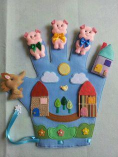 Felt Crafts Kids, Felt Kids, Paper Crafts, Diy Crafts, Diy For Kids, Gifts For Kids, Touch And Feel Book, Quiet Book Patterns, Finger Puppets
