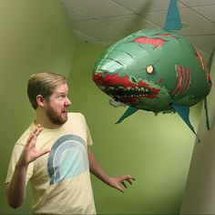 A remote control flying zombie shark. I'm not making up, this is real. It's real and OH SO AWESOME!
