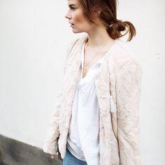 Viktoria Reier - Ruby Fake Fur Jacket http://twisttango.com/ruby-fake-fur-jacket-nude
